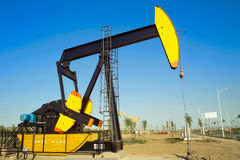 Oil pumping Unit Stock Image