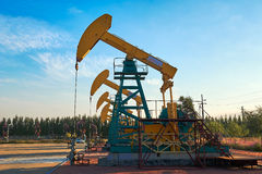 The oil pumping units Royalty Free Stock Photos