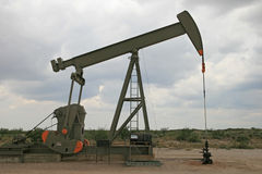 Oil pumpjack Stock Photo