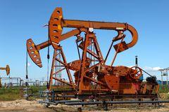 Oil pumpjack Stock Image