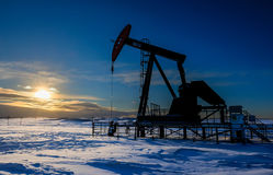 Oil Pumpjack Stock Photos