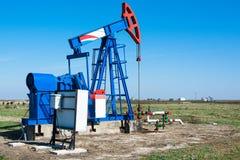 Oil pumpjack Stock Photo