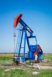 Oil pumpjack Royalty Free Stock Images