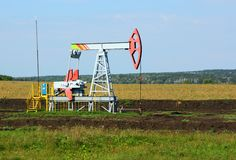 Oil pumpjack. Royalty Free Stock Images
