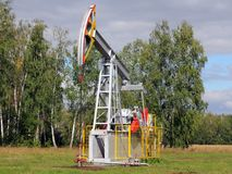 Oil pumpjack. Royalty Free Stock Photography
