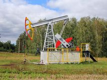 Oil pumpjack. Stock Images