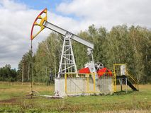 Oil pumpjack. Royalty Free Stock Photo