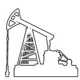 Oil pumpjack Royalty Free Stock Image