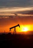 Oil Pumpjack Sunset 6 Stock Photography