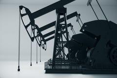 Oil pumpjacks side Stock Photography