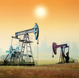 Oil pumps Stock Photo