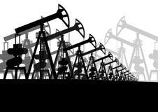 Oil pumps Stock Images