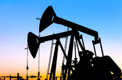 Oil pumps Royalty Free Stock Photos