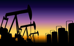 Oil pumps Royalty Free Stock Image