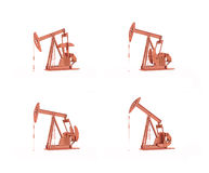 Oil pumps Stock Photos