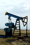 Oil pumps. Oil pump jacks in Azerbaijan Stock Photo
