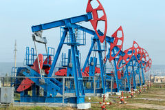 Oil pumps Royalty Free Stock Images
