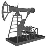 Oil pumps in 3d vector illustration Royalty Free Stock Photo