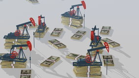 Oil pumps stock video