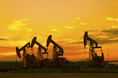 Oil pumps. stock photos