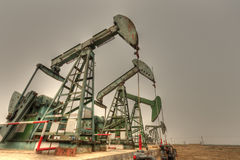 Oil pumps (HDR) Royalty Free Stock Images