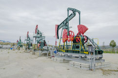 Oil pumps mining oil Royalty Free Stock Photography