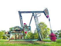 Oil pumps. Oil industry equipment. Stock Photos