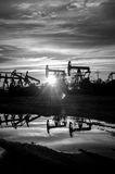 Oil pumps. Royalty Free Stock Photography