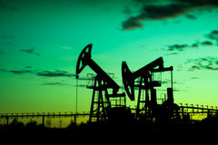 Oil pumps. Royalty Free Stock Photos