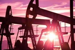 Oil pumps. Stock Images