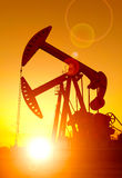Oil pumps. Stock Photos