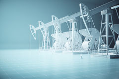 Oil pumps side Stock Photography