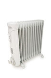 Oil radiator isolated on the white Royalty Free Stock Photography