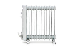 Oil radiator isolated on the white Royalty Free Stock Photo