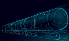 Free Oil Railway Cistern 3D Render Low Poly. Fuel Petroleum Finance Industry Diesel Tank. Cylinder Railroad Wagon Train Stock Photo - 132858100