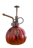 Oil red lamps antique on white background stock photography