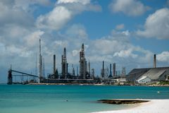 Oil refinary Stock Images