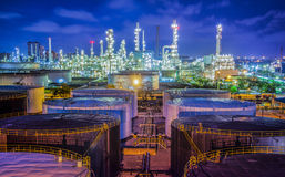 Oil refinary industry. Landscape of oil refinary industry with oil storage tank Royalty Free Stock Photography