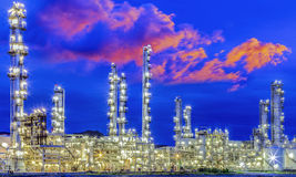 Oil refine industry power plant. With train logistic and transportation Stock Image