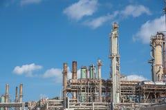 Oil refiner cloud blue sky Corpus Christi, Texas, USA Royalty Free Stock Images
