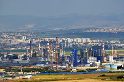Oil Refineries Ltd in Haifa, Israel Royalty Free Stock Photo