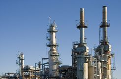 Oil Refinery 1 royalty free stock photo