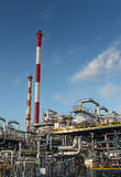 Oil refinery. Part of an oil refinery plant Royalty Free Stock Photo