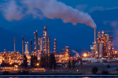Oil refinery. Anacortes, WA oil refinery at night