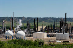 Oil refinery. Facility in the midwest royalty free stock photography