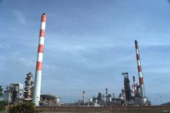 Oil Refinery Stock Photography