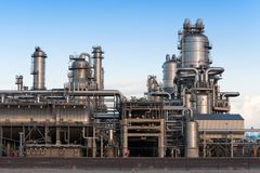Oil refinery. At the Maasvlakte in Holland Royalty Free Stock Image