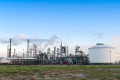 Oil refinery. At the Maasvlakte in Holland Stock Photography