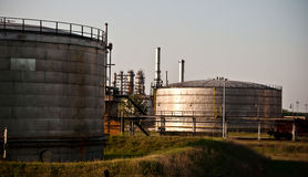 Oil refinery. Under the afternoon sun Royalty Free Stock Photo