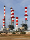 Oil refinery. Expansion works on a petrol refinery and powerplant Stock Images